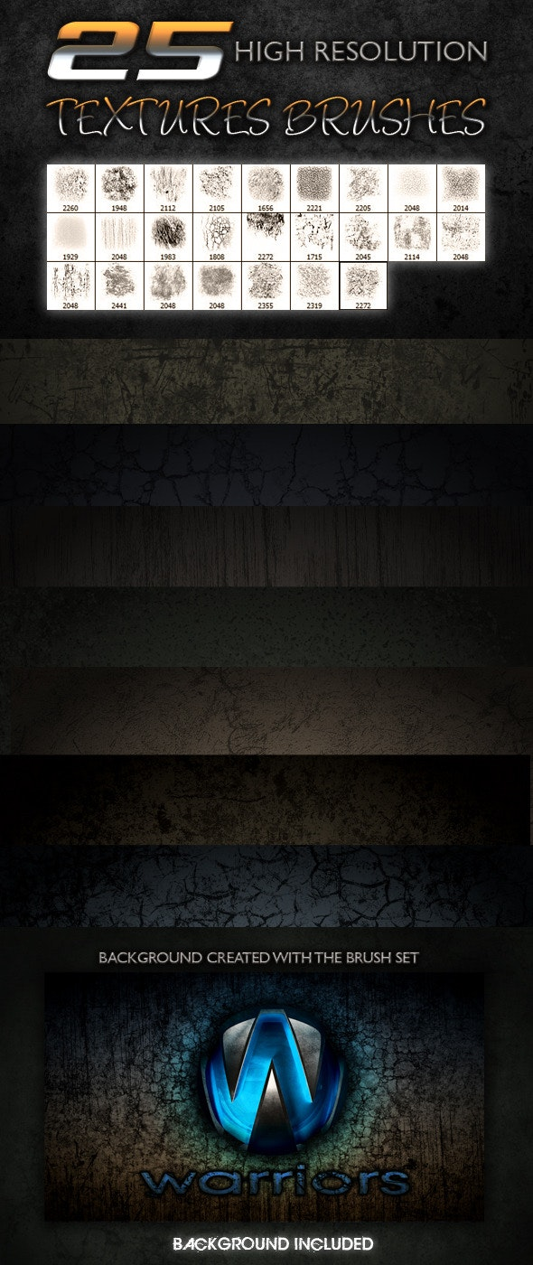 25 Textures Brushes - Texture Brushes