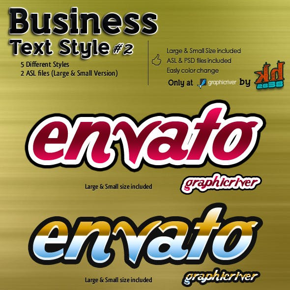Business Text Styles #2