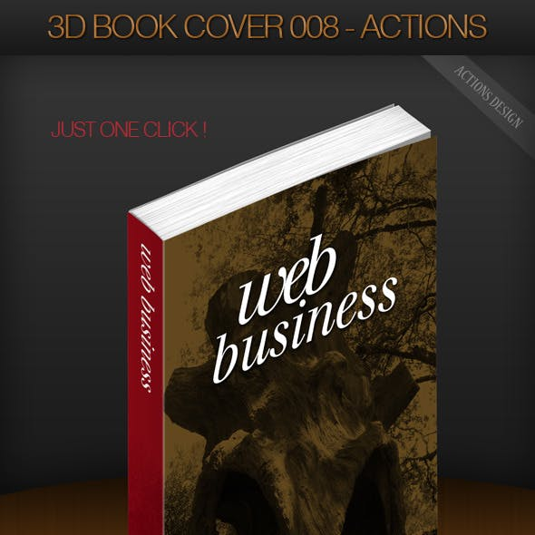 3D Book Cover 008 - Paperback