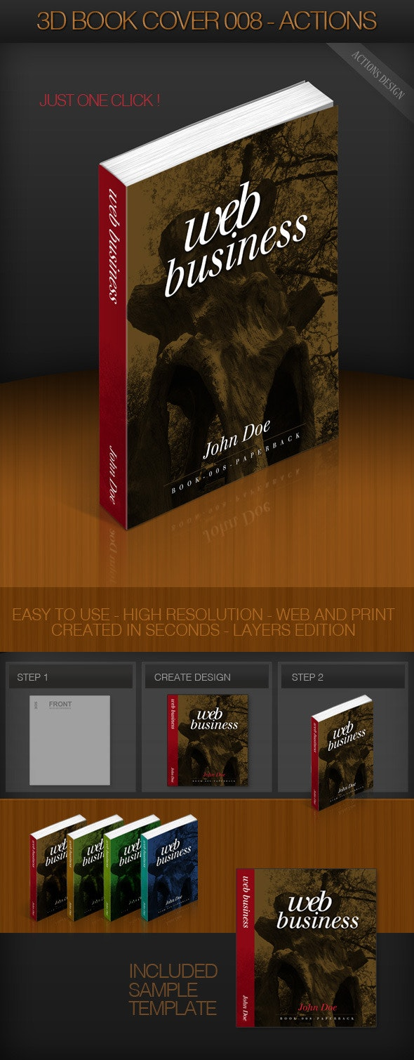 3D Book Cover 008 - Paperback - Utilities Actions