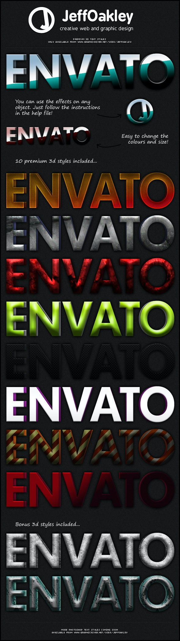 Premium 3D Styles - Text Effects Styles