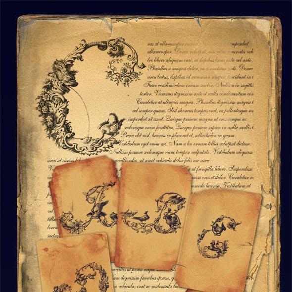 Baroque Letter Brush Set