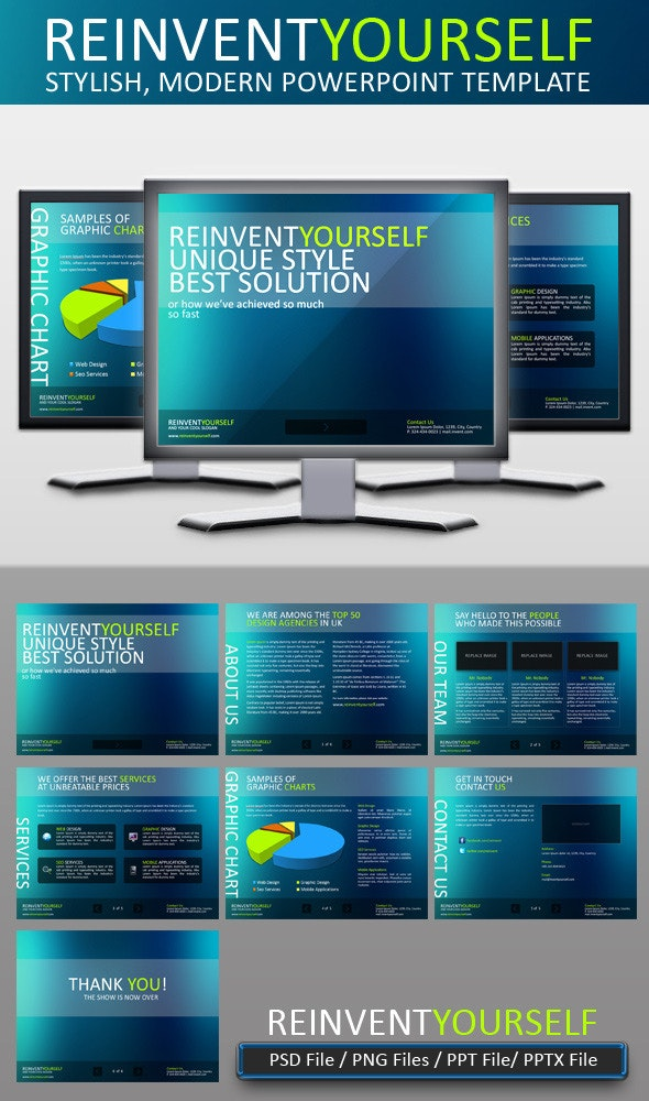Reinvent Yourself Powerpoint Template - PowerPoint Templates Presentation Templates