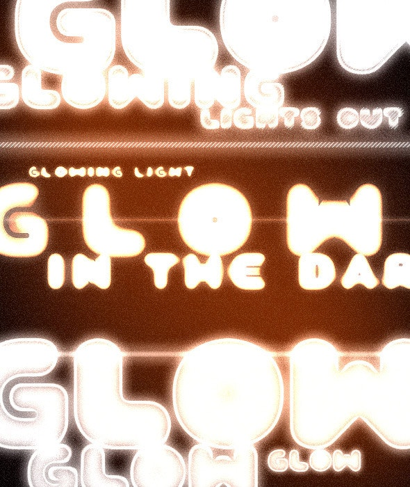 Glowing Styles - Text Effects Styles