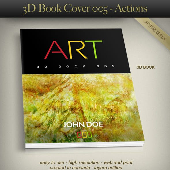 3D Book Cover 005