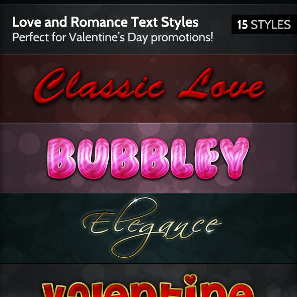 Love and Romance Text Styles
