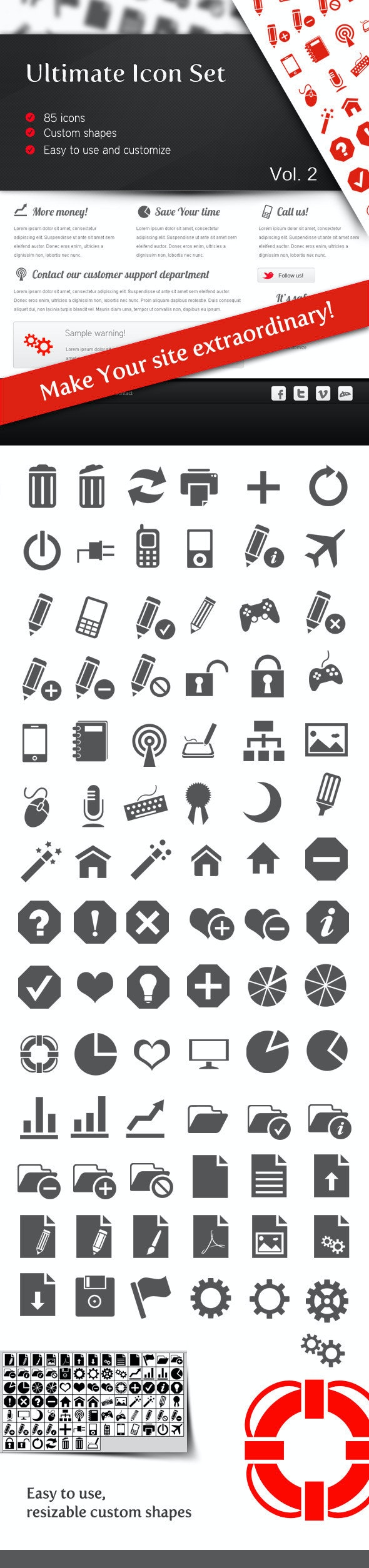 Ultimate Icon Set Vol 2 - Symbols Shapes