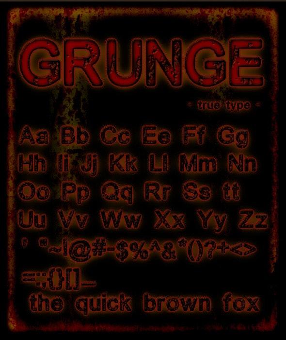 Grunge Font - Sans-Serif Fonts