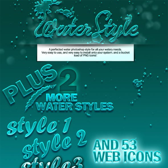 Water Style for Both Brushes and Type