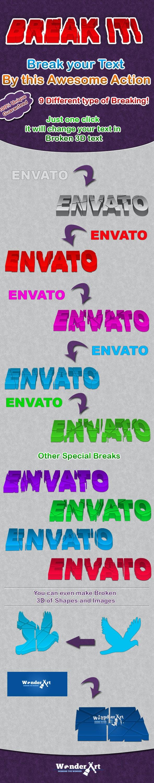 Break It !! - Text Effects Actions