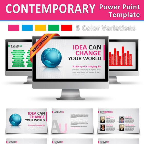 Contemporary Power Point Template