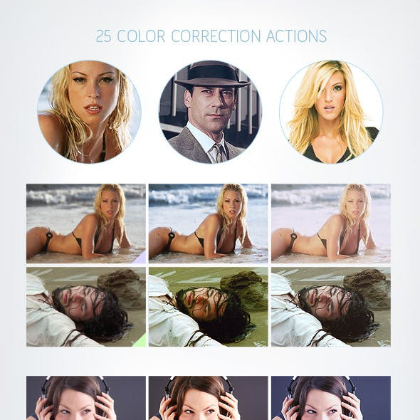 25 Color Correction Actions