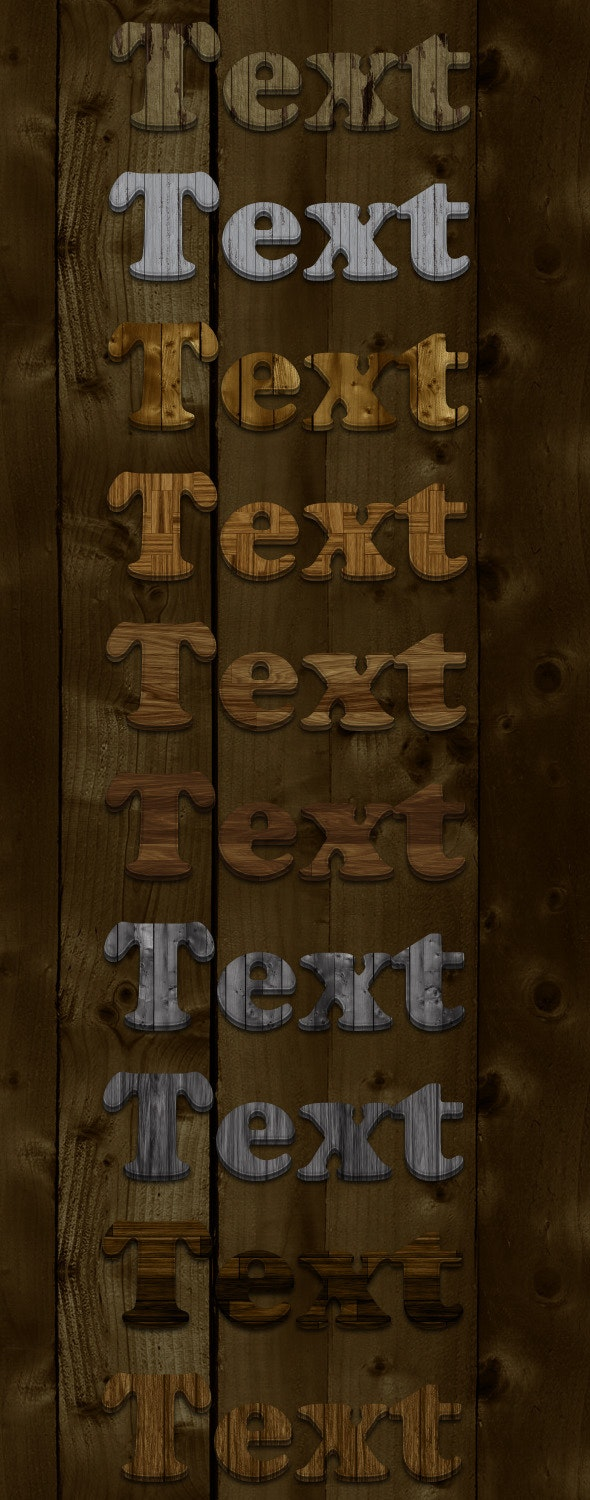 10 New Wood Styles - Text Effects Styles