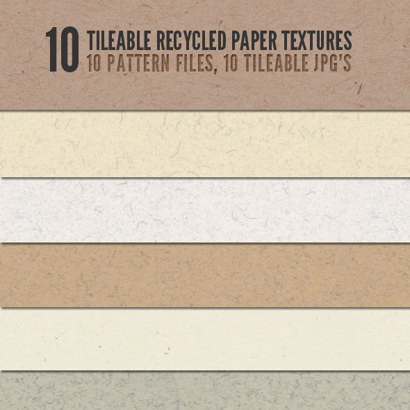Tileable Recycled Paper Textures