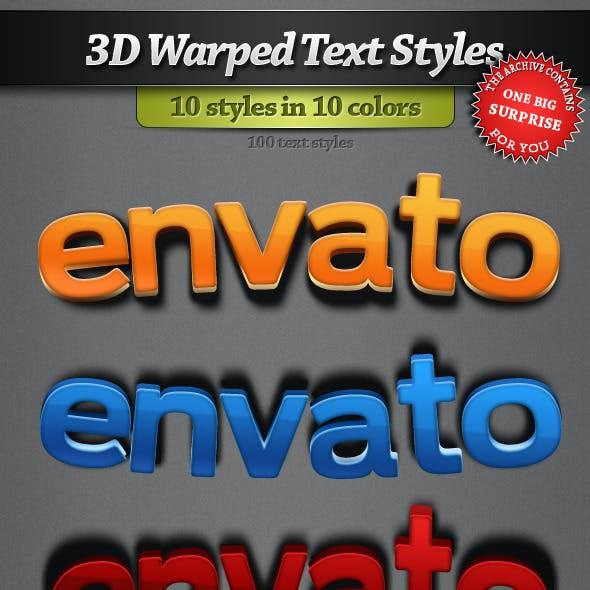 3D Warped Text Styles