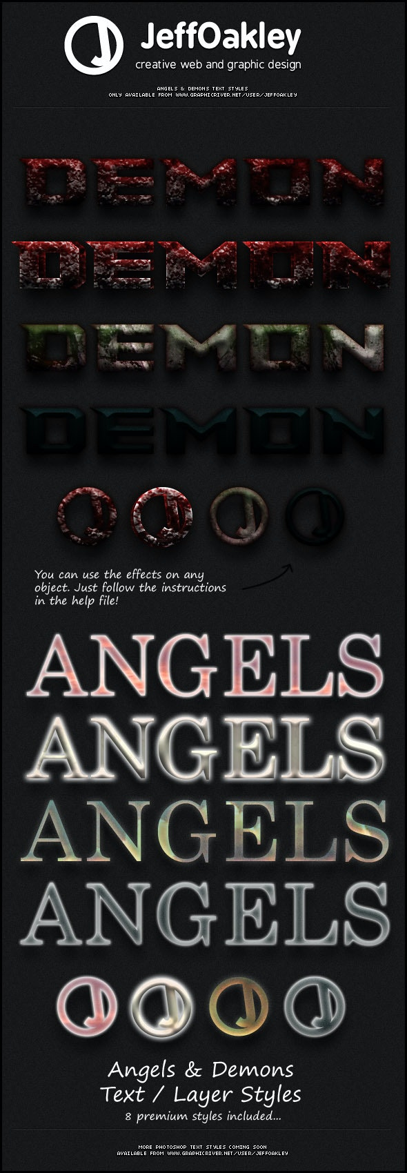 Angels & Demons Styles - Text Effects Styles