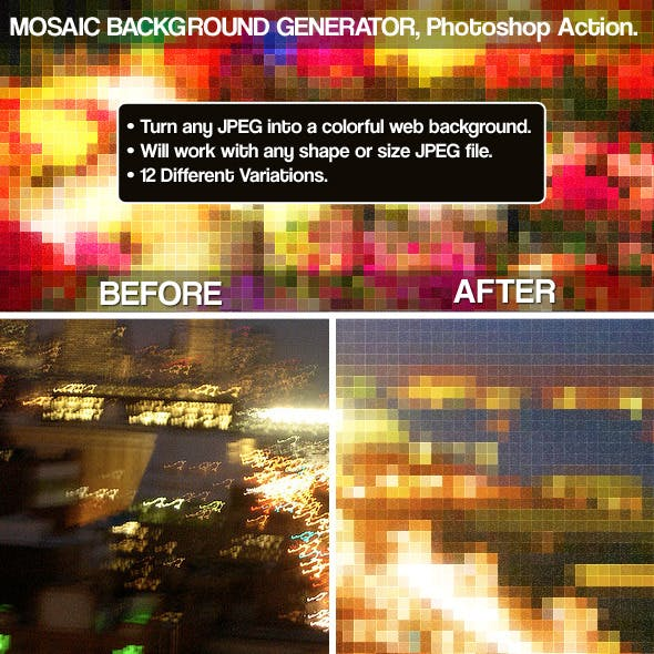 Mosaic Background Generator