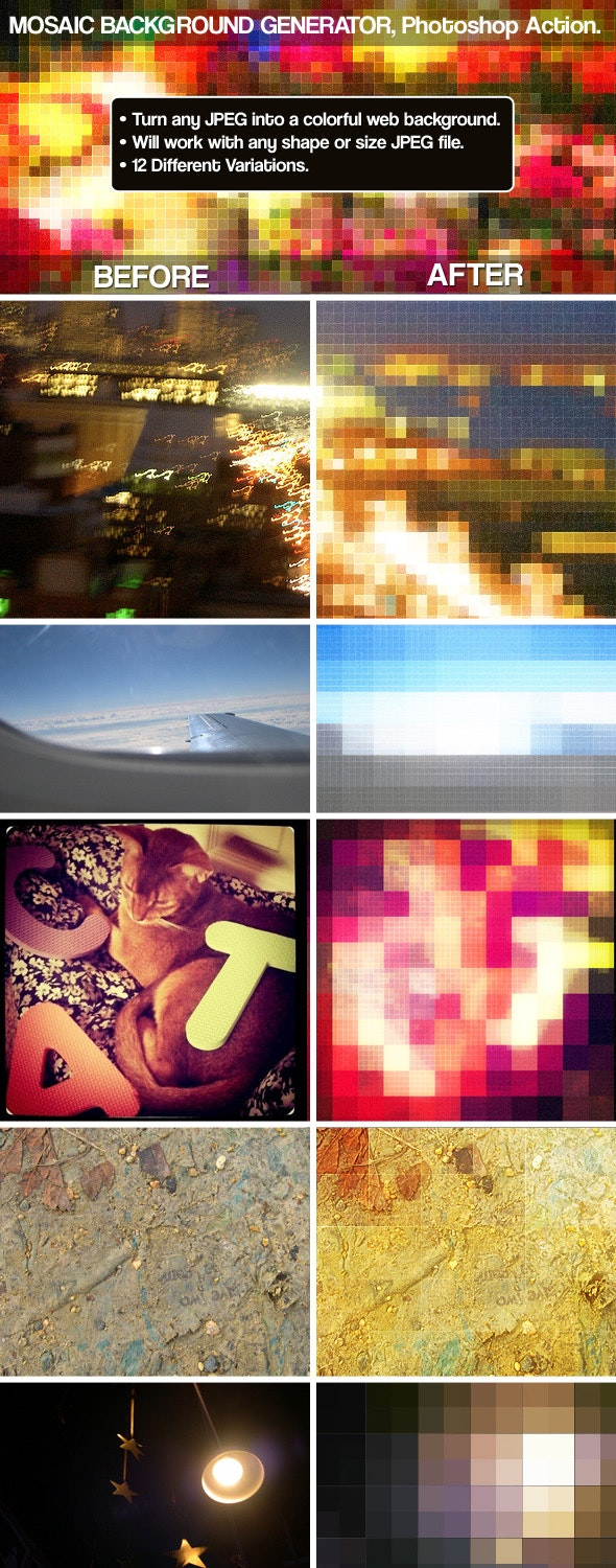 Mosaic Background Generator - Photo Effects Actions