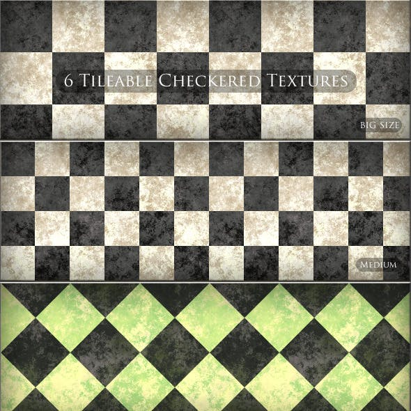 6 Tileable  Checkered Textures Patterns