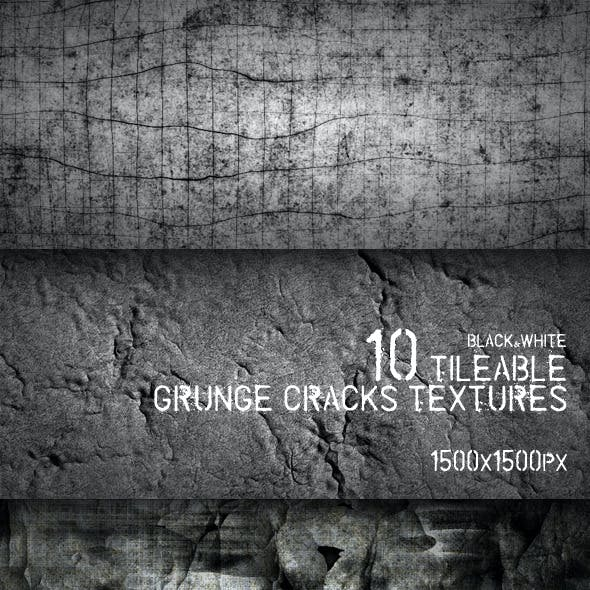 10 Tileable Grunge Cracks Textures