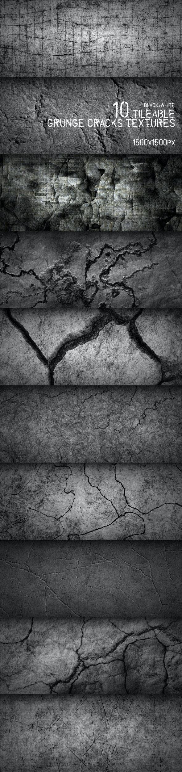 10 Tileable Grunge Cracks Textures - Miscellaneous Textures / Fills / Patterns