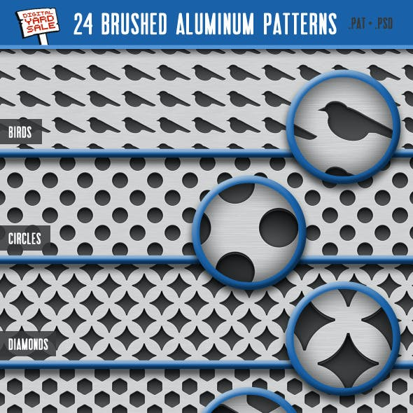 24 Brushed Aluminum Patterns
