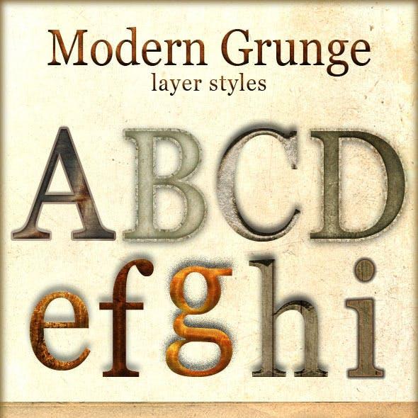 Modern Grunge Layer Styles