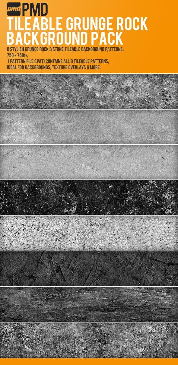 8 Tileable Grunge Rock Backgrounds - Urban Textures / Fills / Patterns