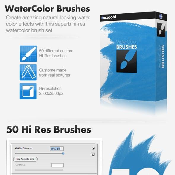 50 Hi Res Watercolor Brushes