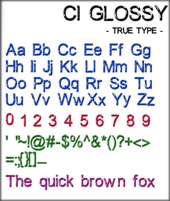 Glossy Font  - Fonts