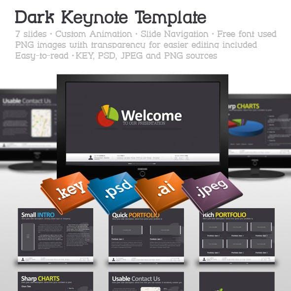 Dark Keynote Template
