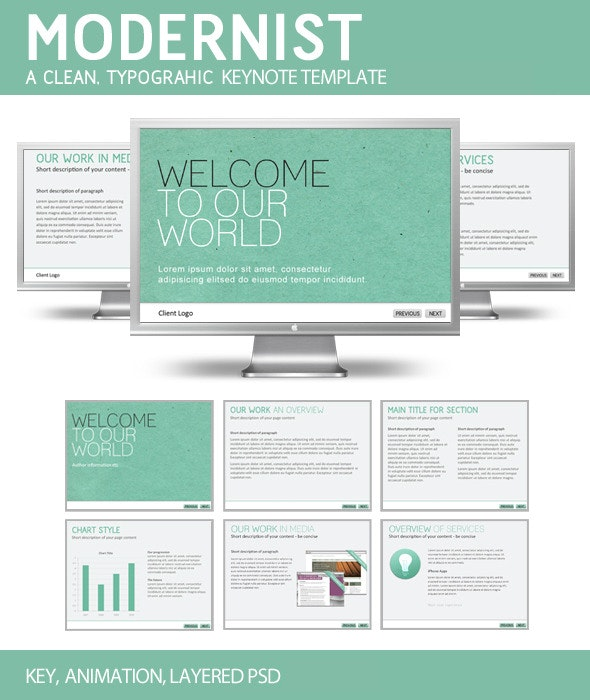 Modernist - Creative Keynote Templates
