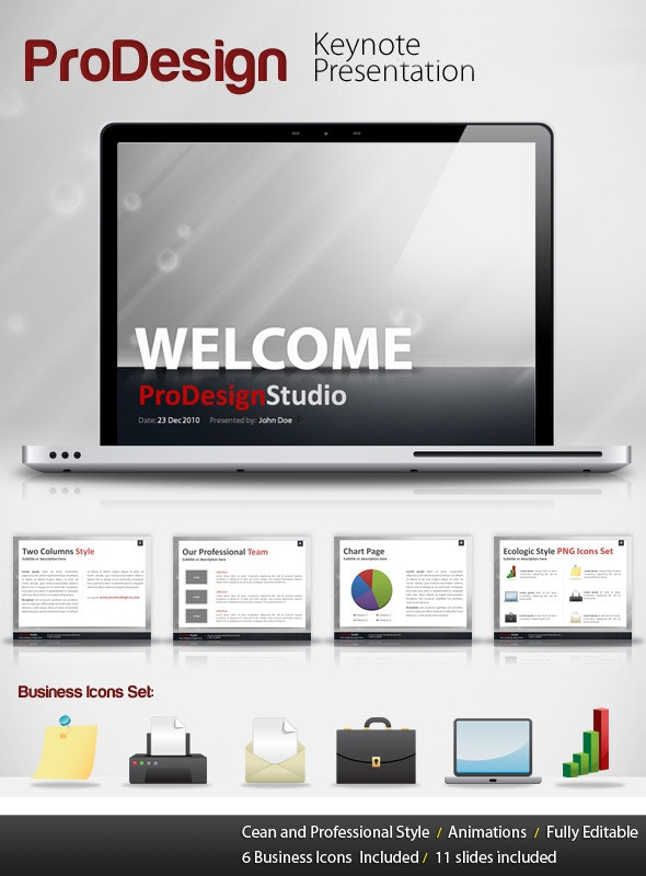 Pro Design - Keynote Template - Creative Keynote Templates