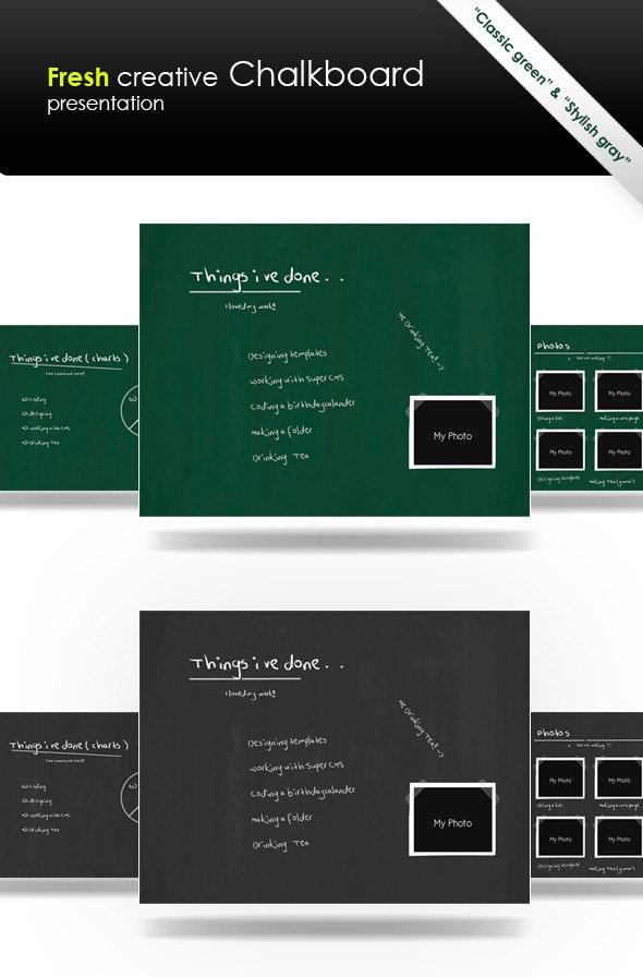 Fresh Creative Chalkboard - Creative Keynote Templates