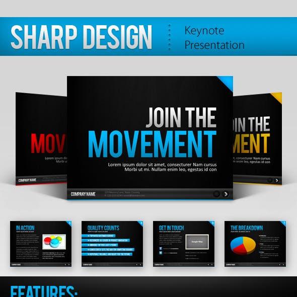Sharp Design Keynote Template