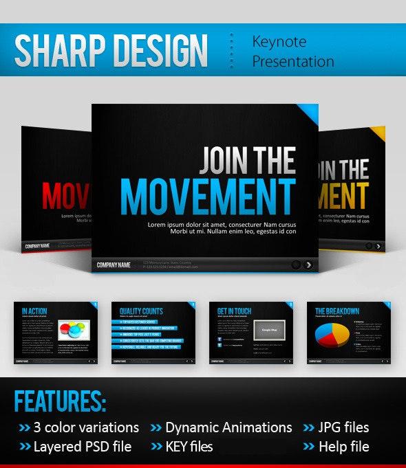 Sharp Design Keynote Template - Keynote Templates Presentation Templates