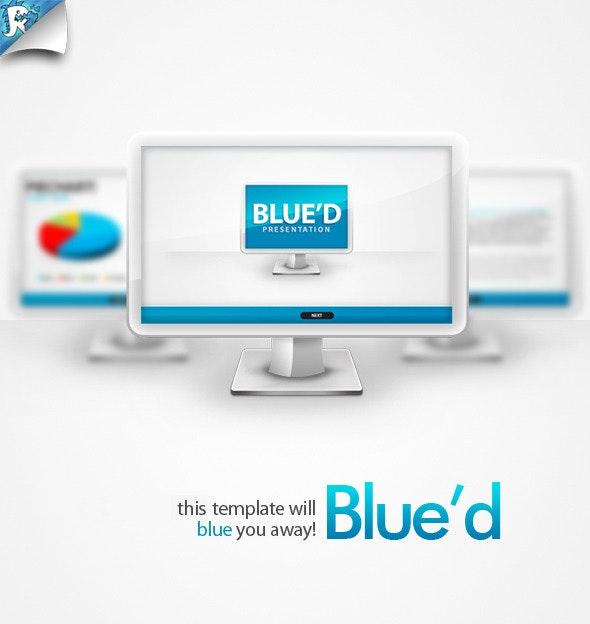 Blue'd Keynote Presentation - Business Keynote Templates