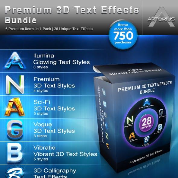 Premium 3D Text Effects Bundle