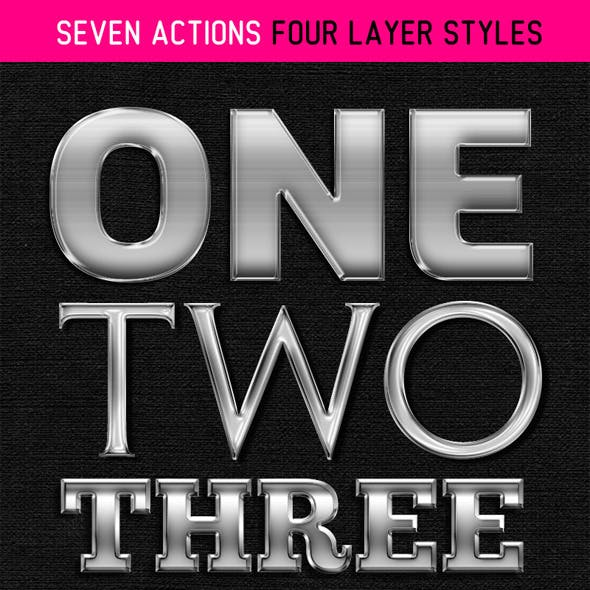 Seven Actions Four Layer Styles