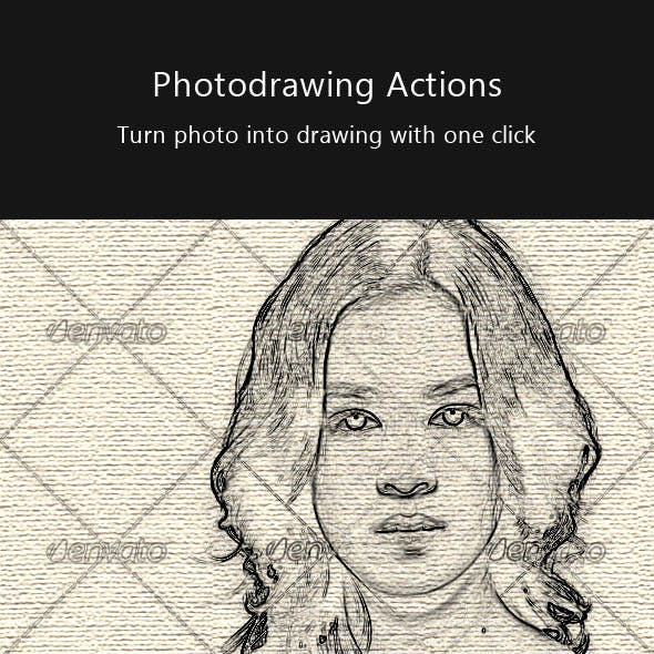 Photo Drawing Action Pack