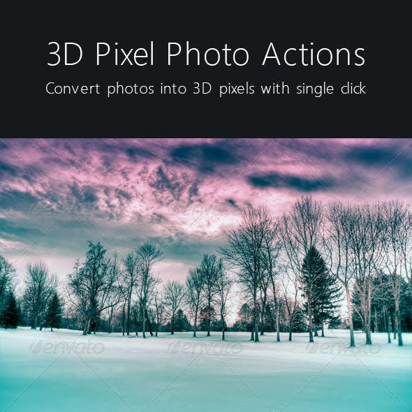 3D Pixel Photo Action