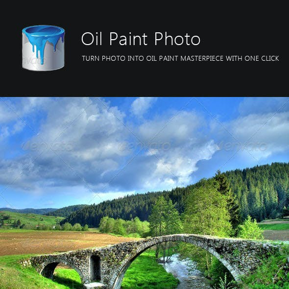 Oil Paint Photo Action