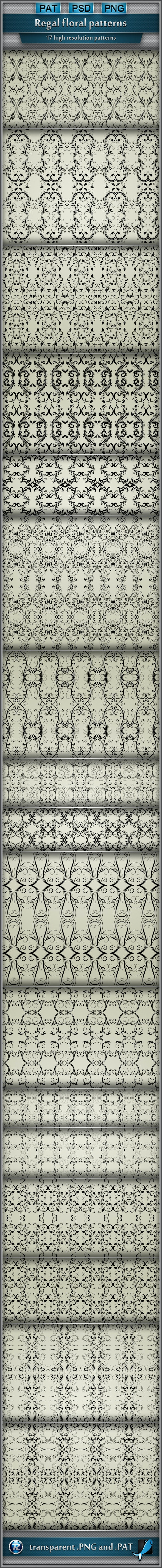 Regal Floral Patterns - Artistic Textures / Fills / Patterns