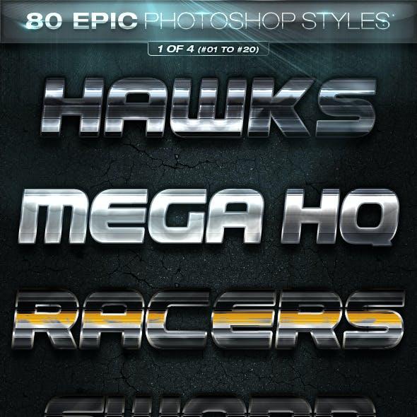 80 EPIC Photoshop Styles 1 of 4