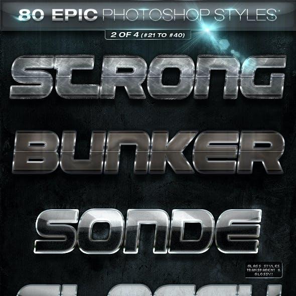 80 EPIC Photoshop Styles 2 of 4