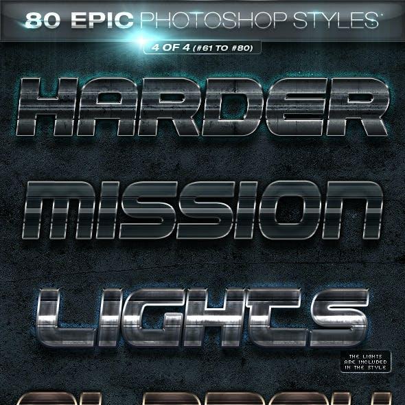 80 EPIC Photoshop Styles 4 of 4