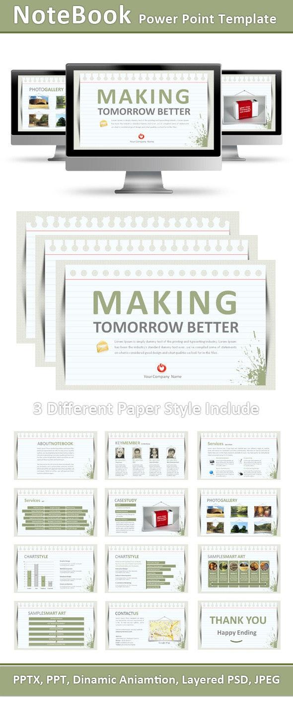 Notebook Power Point Presentation - PowerPoint Templates Presentation Templates