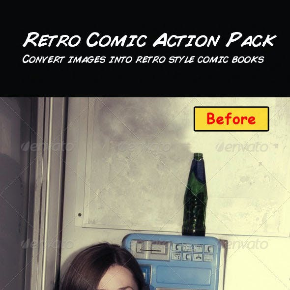 Retro Comic Action Pack