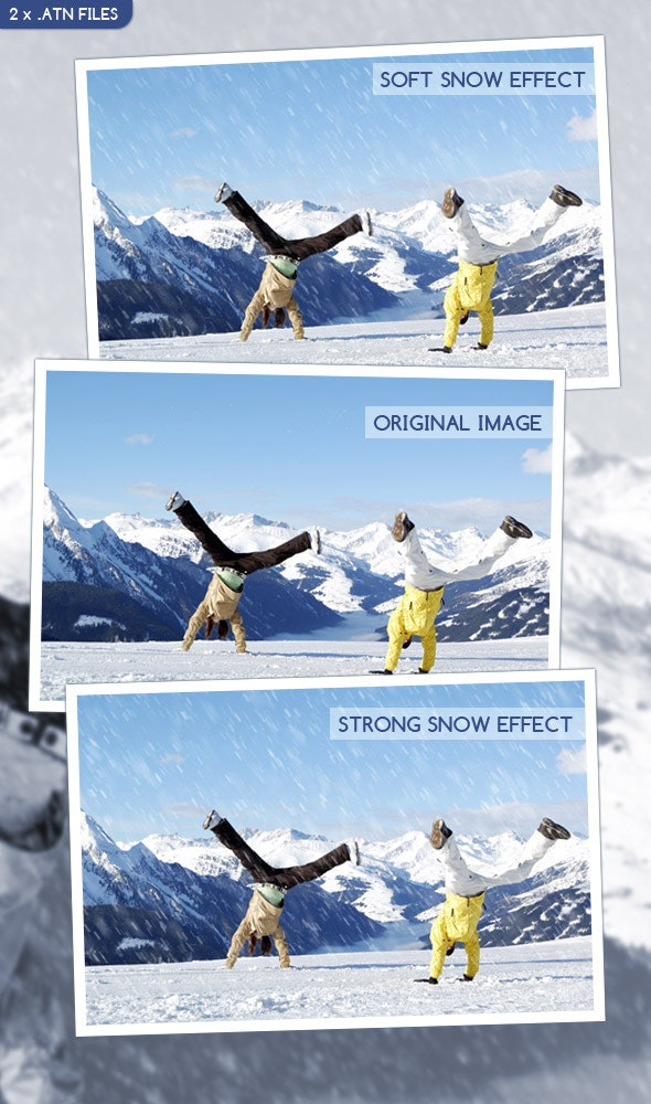 Let It Snow Action - Photo Effects Actions