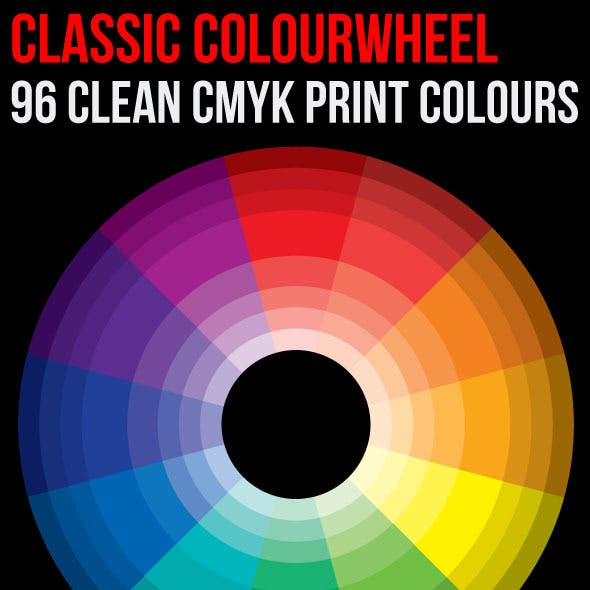 Classic Color Theory Wheel 96 Clean Print Colours